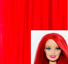 Cabelo Sintético Para Reroot Barbie Fashion Royalty Monster