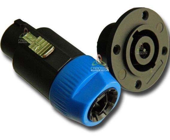Conector Plug Speakon Macho / Fêmea 8 Polos Kit Painel Linha