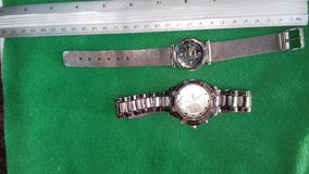 #23 Lindo Lote De 2 Relógios De Pulso Fem/masc - Funcionando