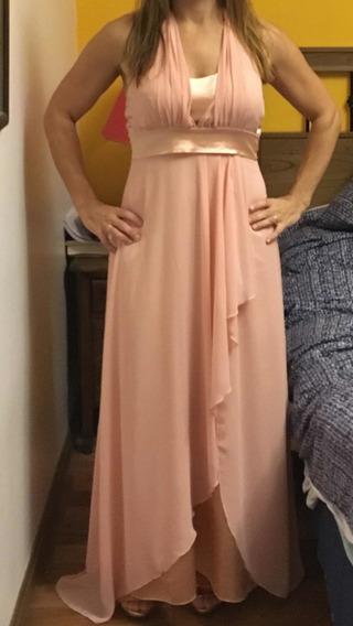 Vestido De Fiesta Largo Color Rosa