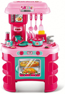 Cocina De Juguete Kitchen Cook 48 Cm Rojo 21 Accesorios