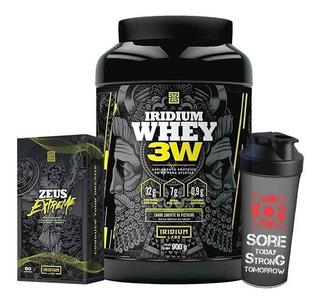 Whey Protein 3w + Pré Hormonal Zeus Extreme + Coq - Iridium