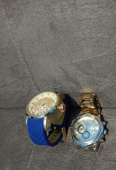 Kit 2 Relógios Dourados
