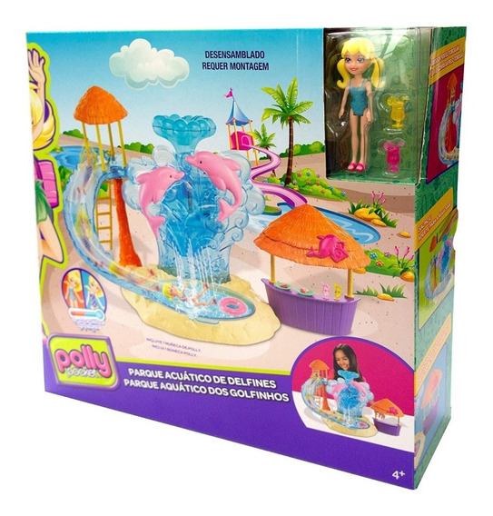 Polly Pocket Playset Parque Acuático De Delfines