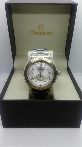 Relógio Champion Mod. Ca31186s Prata E Dourado