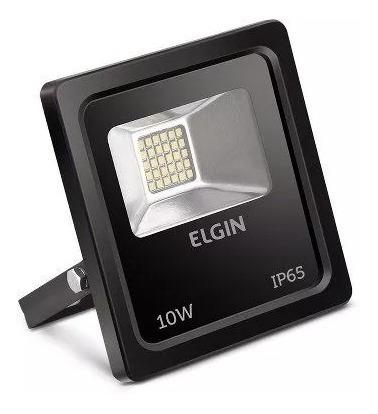 Refletor Led 10w Holofote Ip65 Bivolt Branco Frio Elgin