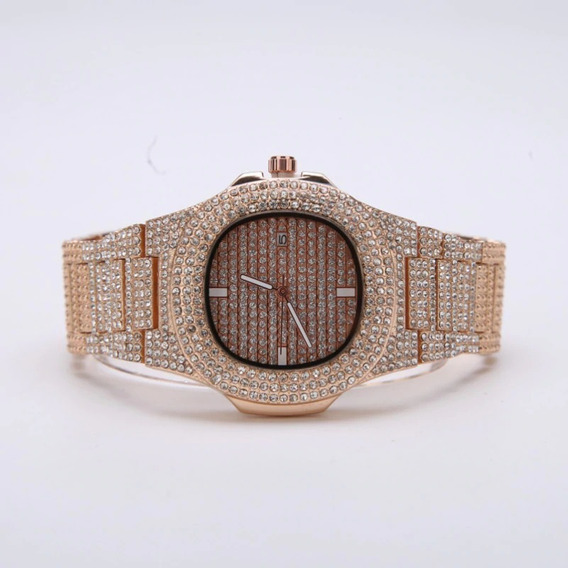 Relógios De Diamante Moda Automatico Data De Aço Inoxidável