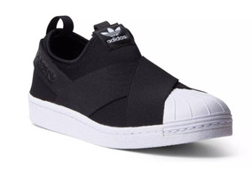 Tênis adidas Slip On Preto Unissex Casual Original