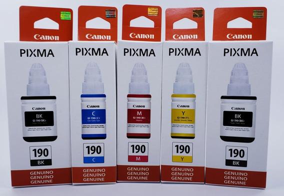 Kit 5 Refil Tintas Original Canon Gi-190 G2100 G3100 G3100