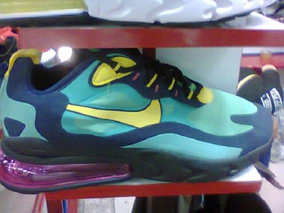 Tenis Nike React 270 Azul/amarelo E Lilas Nº40 Original!!!