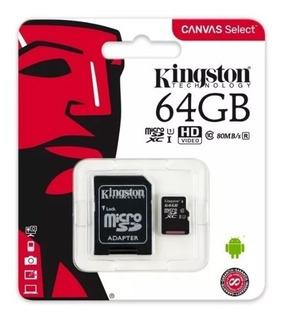 Tarjeta De Memoria Kingston Micro Sd 64gb Sdcs/64gb