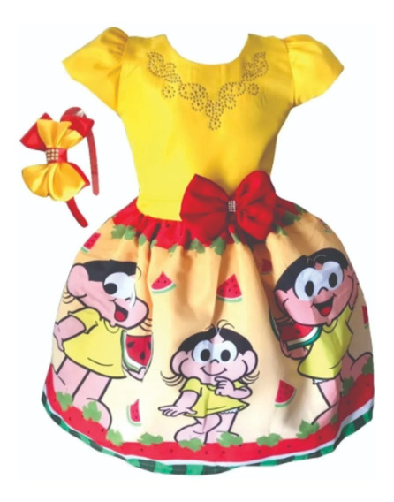 Vestido Magali Amarelo + Tiara