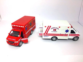 Carrinho Coleção Ambulância - Vermelha E Branca - Ferro