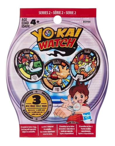 Imagen 1 de 1 de Medallas X 3  Yo-kai Watch  (5 Cm) A2476 Original