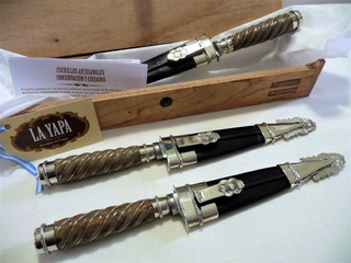 Cuchillo Artesanal Picaso Alpaca & Caja Premium. Hoja 14 Cm