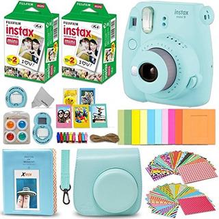 Fujifilm Instax Mini 9 Camara Instantanea Azul Hielo Fuji In