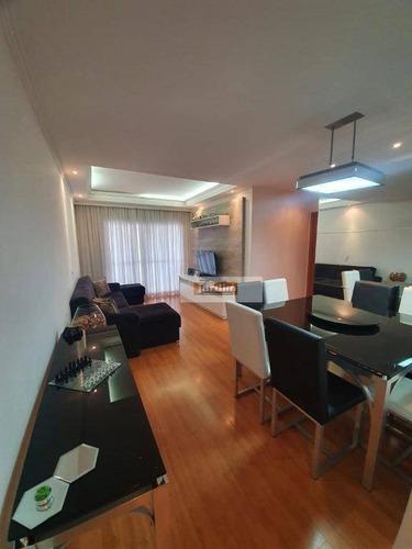 Apartamento Com 3 Dormitórios (1 Suíte) E 2 Vagas À Venda, 100 M² - Centro - São Bernardo Do Campo/sp - Ap7190