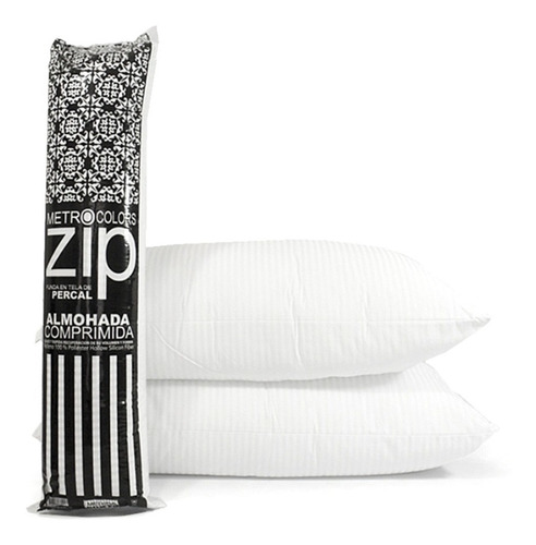 Almohada Inteligente Zip. C/vellon Siliconado Y Percal 180h