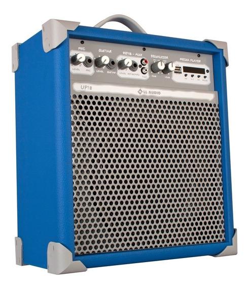 Caixa Som Amplificada Multiuso Up!8 Blue Fm/usb/bluetooth