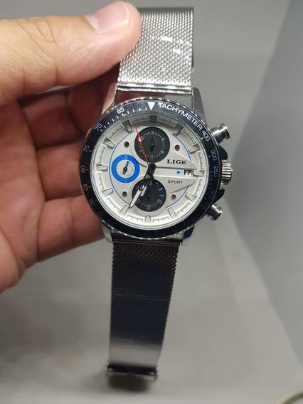 Lige Moda Quartzo Relógio Do Esporte Dos Homens Ultra-fino