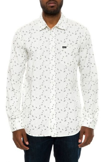 Camisa Rvca Hombreearly On Slb Manga Larga Original