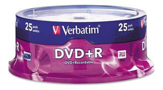 Verbatim Dvd+r 16x 4.7 Gb 25 Unidades