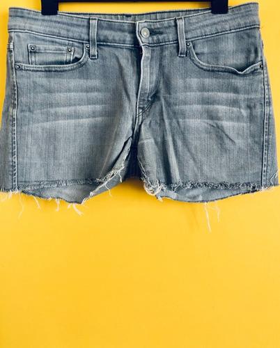 Short De Jean Color Gris De Hombre - Mujer Low Skinny Levis