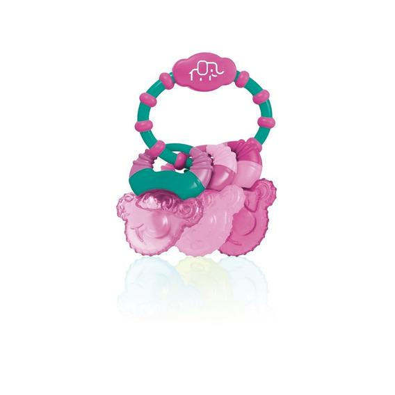 Mordedor Com Gel Cool Rings Rosa Multilaser - Bb167