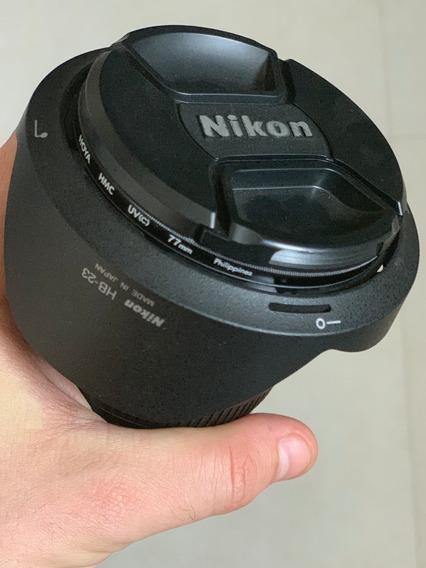 Nikon Af-s Dx 10-24mm Lente Original Grande Angular + Filtro Hoya
