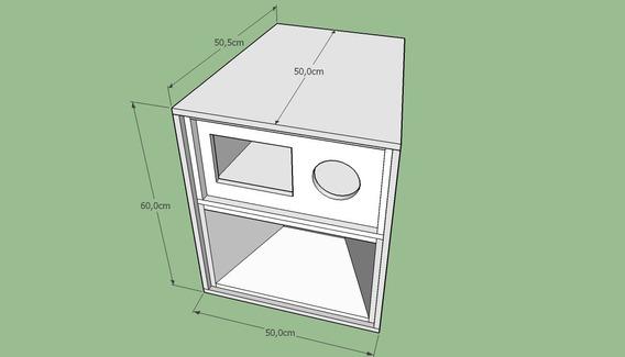 Projeto Caixa De Som Medio Grave Mini Kf 12