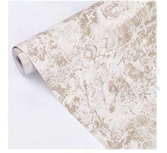 Papel Tapiz Premium Marmol Beige Autoadherible 10 M X 45 Cm