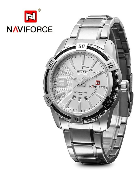 Relógio Masculino Luxo Militar Prata De Pulso Esportivo