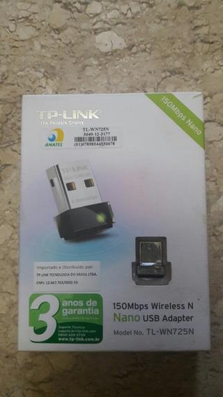 Mini Adaptador Wi-fi Tp-link Nano Wireless N Usb 150 Mbps