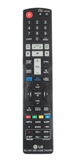 Controle Remoto Blu-ray Home Lg Original Akb73635402