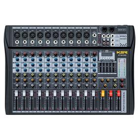Mesa De Som 12 Canal Ksr Pro Usb Gravador Bluetooth Kadu Som