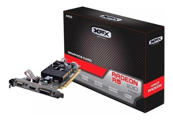 Placa De Vídeo Amd Xfx Radeon R5 230 2gb Ddr3, Low Prof