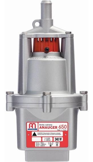 Bomba Dágua Submersa Vibratória Poço 650 5g 220v Anauger