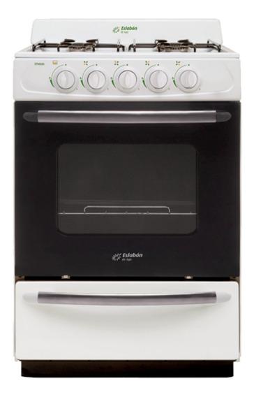 Cocina Eslabón de Lujo EFM56NB 4 a gas blanca puerta visor