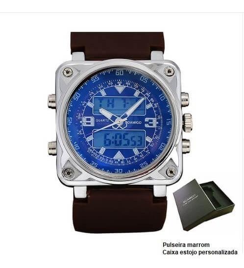Relógio Masculino De Pulso Modelo Esportivo Boamigo Rrubber