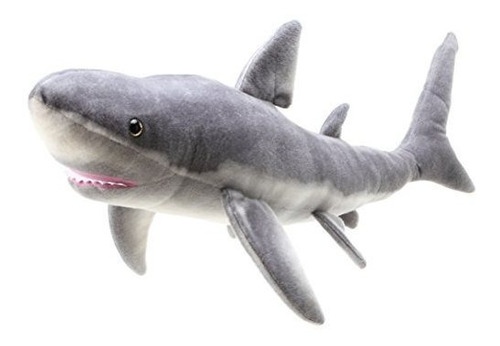 Sammy The Shark   Casi 3 Pies 335 Felpa De Felpa Blanca Larg
