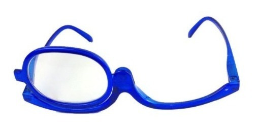 Óculos Para Maquiagem (armação) Gira 180 Graus Cor Azul