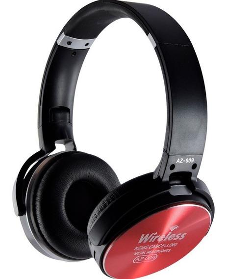 Fone Headphone Sem Fio Wireless Com Microfone - Vermelho