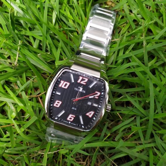 Relógio Masculino Quadrado Technos 2115kll C/ Nf Original