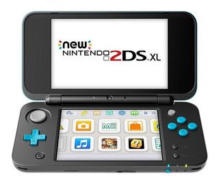 Nintendo New 2DS XL Standard negro y turquesa