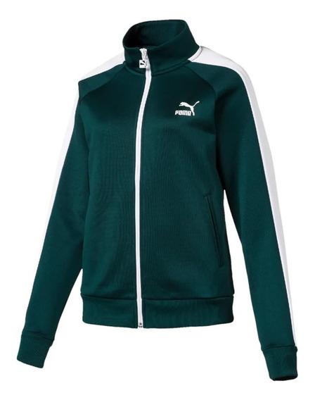 Puma Campera Training Mujer Classics T7 Verde - Blanco