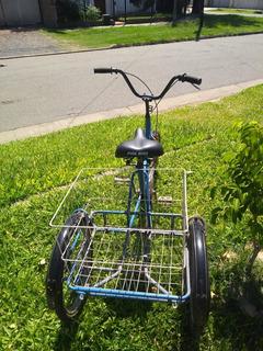 Bicicleta Tricicargo Con Frenos Tres Ruedas