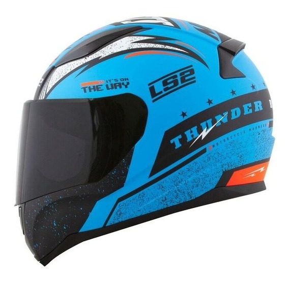 Capacete Ls2 Rapid Ff353 Thunder Azul Fosco / Preto