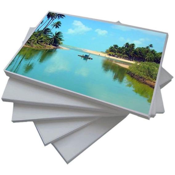200 Fls Papel Fotográfico Adesivo 115g Glossy A4 Brilhante