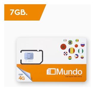 Chip Para España Y Europa*(ver) 7gb Internet. Sim Orange