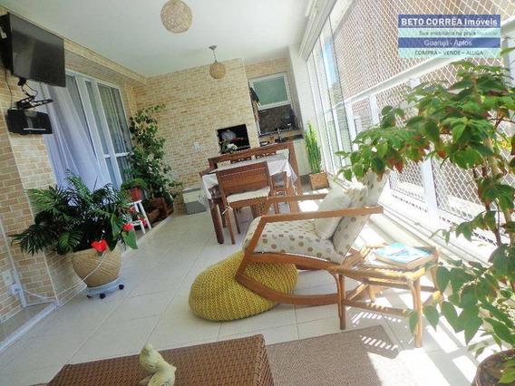 Guarujá, Enseada - O Apartamento Dos Sonhos Na Praia Esta Aqui - Ap0254